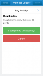 Ability to complete a goal